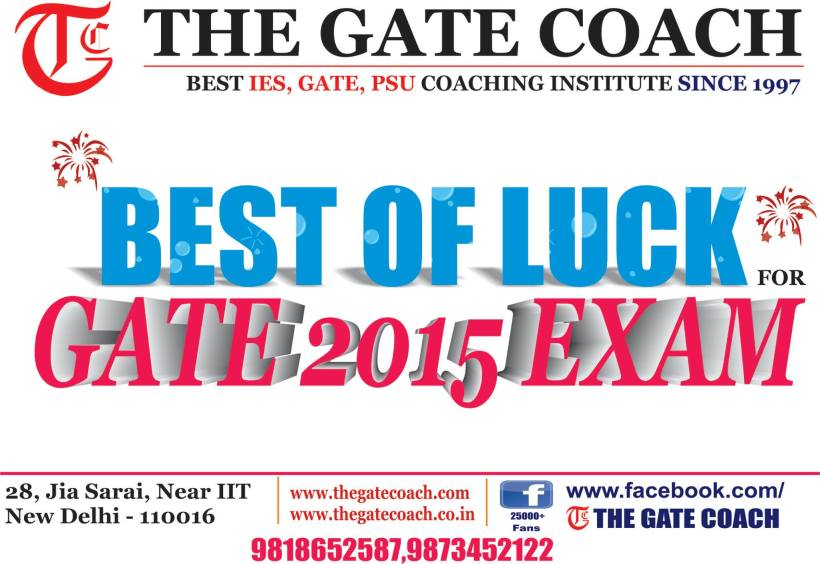 good luck, gate coaching
