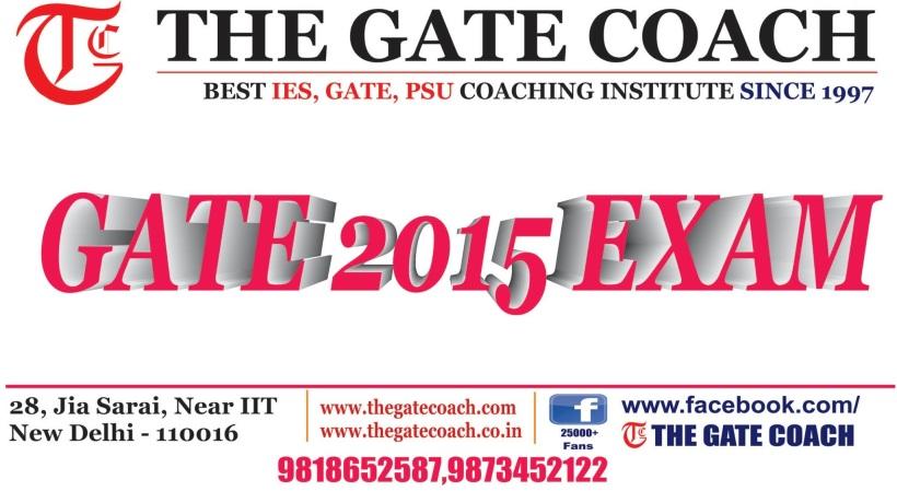 GATE 2016, gate 2015 response