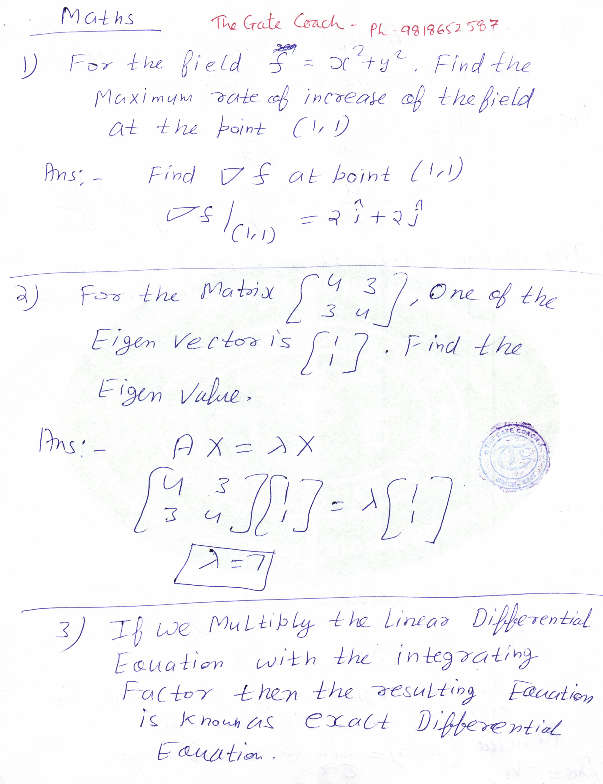 GATE 2015: Engineering Mathematics Solution – Coaching For