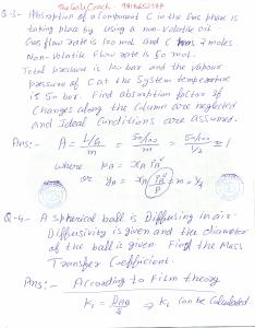GATE 2015 Mass Transfer Solutions, gate 2015 paper
