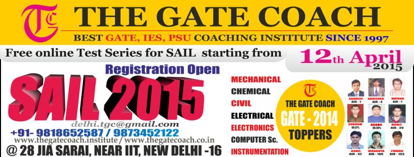 gate 2016, psu 2015, ies 2015, sail mt 2015 exam
