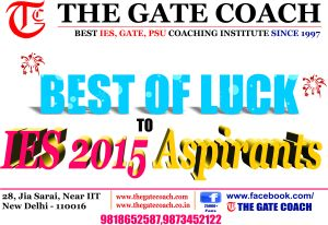 best ies coaching, best gate coaching, gate 2016