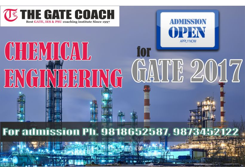 gate 2017, gate 2016 solution, new batch for gate 2017, best coaching for gate chemical