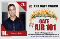 GATE 2016 Toppers AIR 101