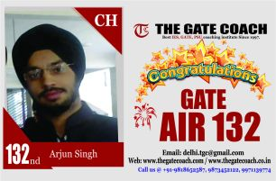 GATE 2016 Toppers AIR 132