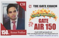 GATE 2016 Toppers AIR 150
