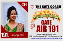 GATE 2016 Toppers AIR 191