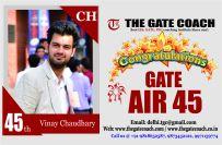 GATE 2016 Topper AIR 45