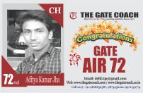 GATE 2016 Toppers AIR 72