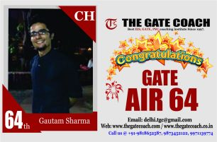 GATE 2016 Toppers AIR 64
