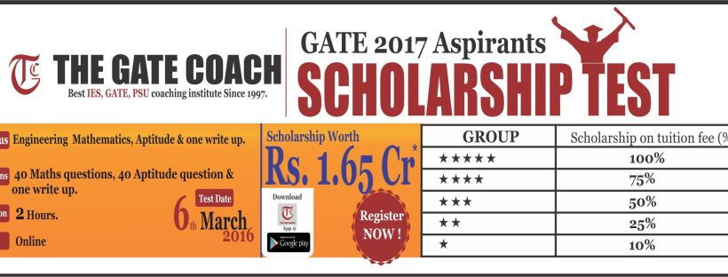 scholarship test for gate coaching