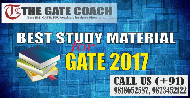 gate 2017 study material, gate 2017 exam books