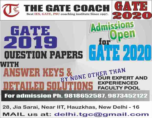 gate 2019 results, gate 2020, gate 2019 solutions,